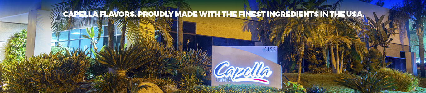 Capella Flavors, proudly made with the finest ingredients in the USA.