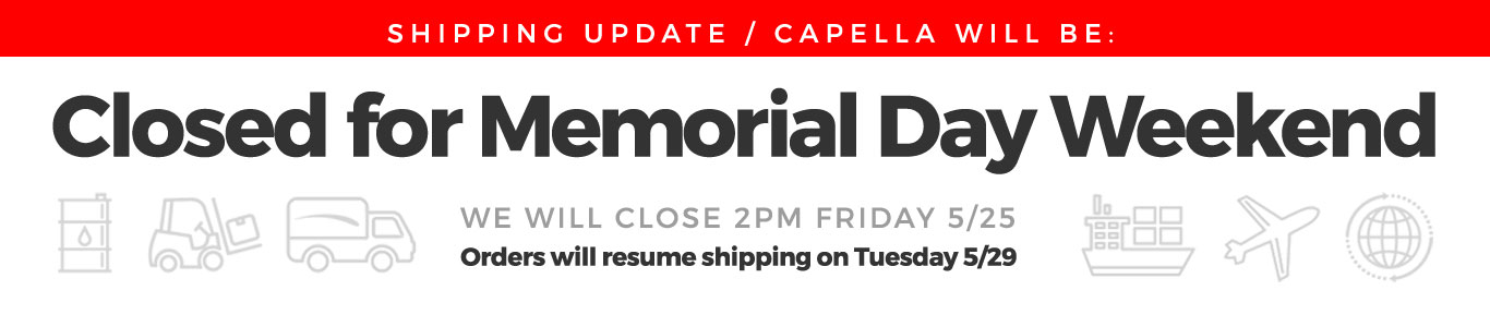 Memorial Day 2018 Shipping Update