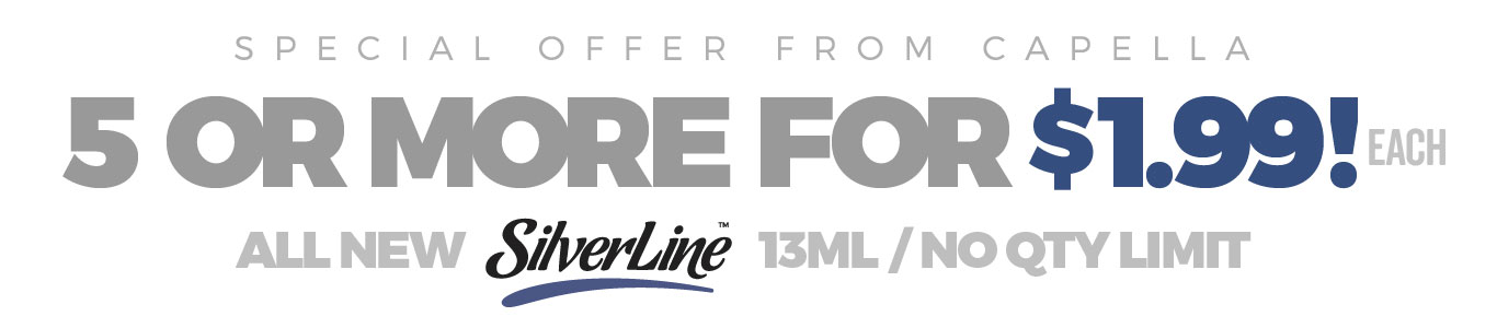 Buy 5 or more all new SilverLine Flavors for only $1.99ea!