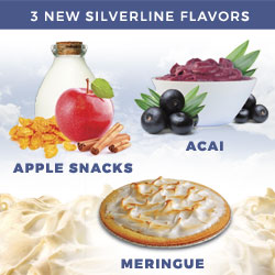 3 New SilverLine: Apple Snacks, Acai, Meringue