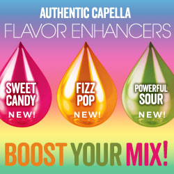 Boost your mix with Authentic Capella Flavor Enhancers.