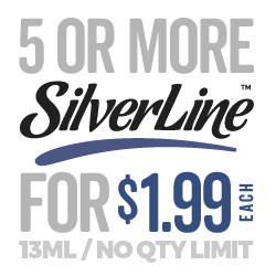 Buy 5 or more SilverLine 13ml for only $ 1.99 ea!