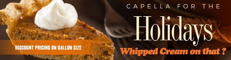 Capella For The Holiday - Pumpkin Spice Gallons On Sale