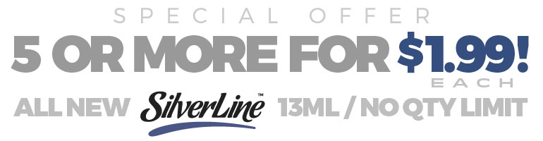 13ml SilverLine Flavors by Capella - Buy 5 or more 13ml for only $ 1.99 each !