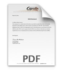 Click here to download Capella Flavors GRAS Statement PDF file size: 475kb